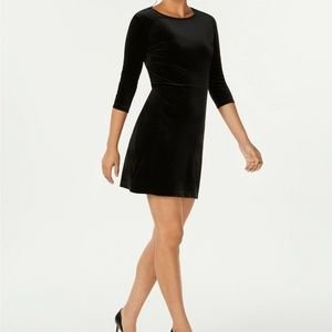 Charter Club Black Velvet Casual Elegance Dress L